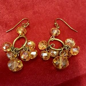 Jewelry - ❤3 for $15! Crystal topaz-inspired earrings